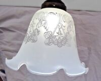 Etched Lamp Glass Shade Fixture Replacement Ceiling Fan Floor Light Globe