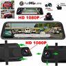Dual 1080P Lens Car Mirror DVR Dash Cam Recorder RearView Mirror Security Camera