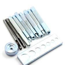 DIY 11x Leder Werkzeug Druckknopf werkzeug Handschlageisen Locheisen Lederkraft