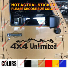 4X4 Off Road Decal Sticker Mountain Unliminted Car Vinyl fit for Jeep Ford Chevy