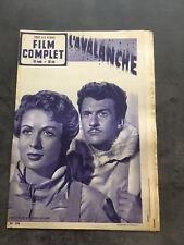 LE FILM COMPLET N°296  L'AVALANGE Gaby Sylvia Frank Villard   E5