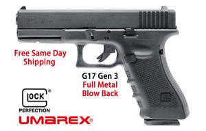 GLOCK 17 Gen3 Metal Blowback .177 BB Handgun CO2 Gas Semi-Auto Pistol Air gun