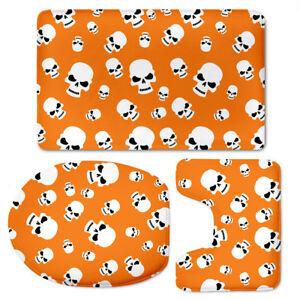 Halloween Style Decor Carpet Absorbent Toilet Mat Bath Rugs Non-slip Shower Mats