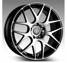 22 INCH CURVA C7 MACHINE BLACK WHEELS AND TYRE PACKAGE HOLDEN RANGE ROVER BMW