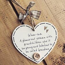 Glam-ma Mothers Day Plaque Sign Gift Present Grandma Gran Mum Hanging Birthday