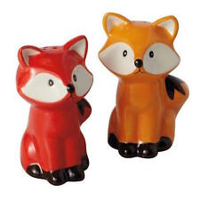 Foxes Salt and Pepper Shaker Set, New!  SALE!!!
