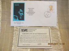 Elvis Presley First Day Issue Comm Stamps Envelope Grenada 1978 COA # 640
