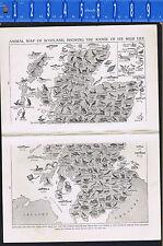 PICTURE ATLAS: Animal Maps for England, Ireland & Scotland  -1925 Prints