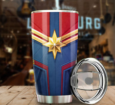 Captain Marvel Uniform Tumbler Stainless Steel Custom Size 20 Oz Coffee Ab121017