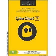 CyberGhost 7 - 1 PC 1 Jahr - VPN Vollversion Cyber Ghost Lizenz