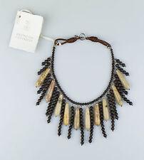 NWT BRUNELLO CUCINELLI Women's Brown Bead & Stone Necklace  $1330