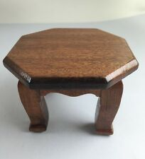 Mini Red Wood Altar Octagon Table Handmade Decor Collect Souvenir Gift Antique
