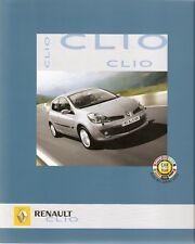 Prospekt / Brochure Renault Clio 09/2006