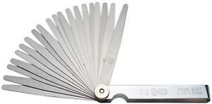 BGS 3083 Präzisions-Fühlerlehren 20 Blatt 0.05mm Ventillehre Abstanslehre
