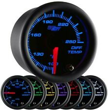 GLOWSHIFT 52mm BLACK 7 COLOR REAR DIFFERENTIAL DIFF TEMPERATURE GAUGE - GS-C722