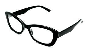 Betsey Johnson Black Cat Eye Eyeglasses Frame 2.00 (BJ4)