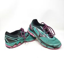 MIZUNO Wave Inspire 13 Teal Pink Athletic Sneakers Womens Tennis Shoes Size 8