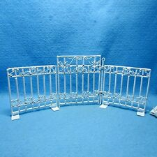 Dollhouse Miniature White Wire Fence with Gate ~ AL99A