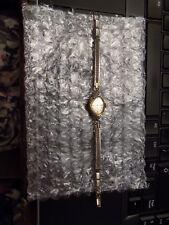 Vtg Ladies Women's 14K Yellow Gold Gruen Precision 17 J Wrist watch Retro Face