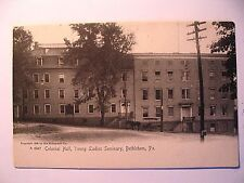 Colonial Hall Young Ladies Seminary in Bethlehem PA Pre 1908