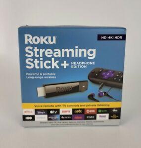 Roku Streaming Stick+ 3811R (Headphone Edition) 4K HDR Media Streamer - Black