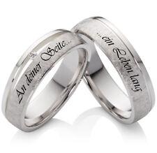 Eheringe Verlobungsringe Trauringe 925Silber Diamant mit Ihrer Lasergravur SLB43