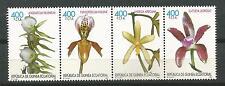 Equatorial GUINEA ECUATORIAL Edifil # 255/258 ** MNH Orquideas / Flowers