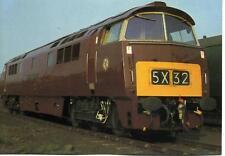 Western Diesel locomotive D1062 WESTERN COURIER Rainhill 1980 postcard