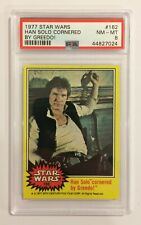 1977 TOPPS STAR WARS TRADING CARD - SERIES 3: YELLOW - #162 HAN SOLO - PSA 8