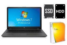 NOTEBOOK HP 255 G6 - 512GB SSD + 1TB - 8GB RAM - WINDOWS 7 PRO - DISPLAY MATT