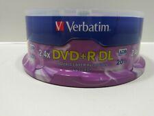 Verbatim 95310 2.4x Dvd+r Double Layer Media 8.5 gb 20 pack disc pk
