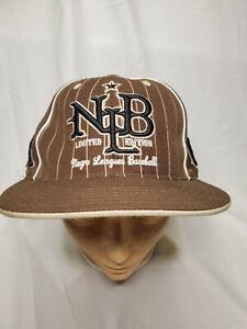 Negro League Teams Hat Cap Adult Size 7 1/4 - 7 3/8 (L) Big Boy Duel Fit Brown