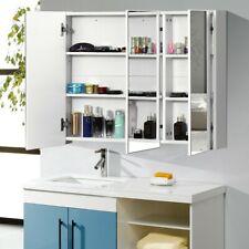 36 in Bathroom Medicine Cabinet w 3 Mirrors Home Storage Wall Mount Organizer