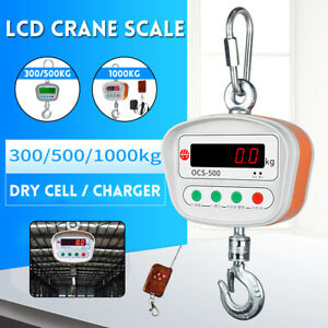 Mini Portable Crane Scale 300Kg/500Kg/1Ton LCD Digital Electronic Hook