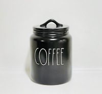"Rae Dunn By Magenta COFFEE Medium Farmhouse 7.5"" Black Canister"