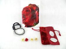 Armband Modeschmuck Bijaoux Karte Rose 2 Holzherzen Geschenkset