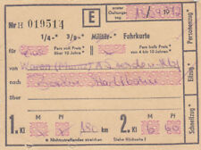 ANTIGUO BILLETE para tren rápido von 1972 para 6,50 MARCA (agk1684)
