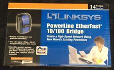 Sealed New In Box Linksys Powerline Etherfast 10/100 Bridge Networking Internet