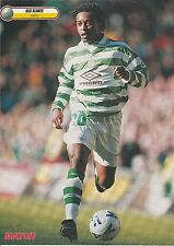 REGI BLINKER GLASGOW CELTIC 1997-2000 ORIGINAL HAND SIGNED MAGAZINE CUTTING