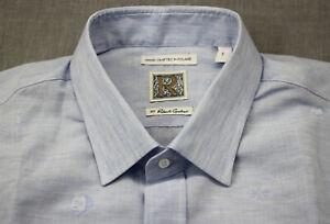R by Robert Graham Hand Crafted Roland Mens Blue Guitar Linen Shirt NWT  L  $298