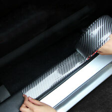 1M Carbon Fiber Car Door Plate Sill Scuff Cover Anti Scratch Sticker Accessory c
