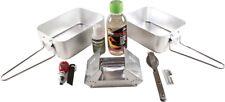 Bushcraft Outdoor Cooking Set Nine piece set includes: folding cooker; fuel rece