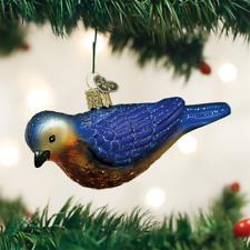 OLD WORLD CHRISTMAS WESTERN BLUEBIRD GLASS CHRISTMAS ORNAMENT 16112