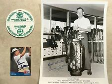 1961 US Open Golf items - Bagtag, autographed items by winner Gene Littler