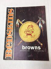 Redskins Vs. Browns Sept. 11, 1966 Program! Jurgensen, Mitchell, Taylor, Groza!