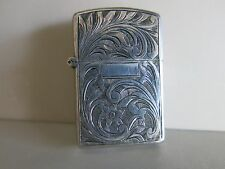 Vintage Made in ITALY Sterling Silver Zippo Lighter