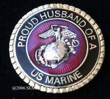 PROUD HUSBAND OF A US MARINE HAT PIN MARINES DAD MOM WIFE WM GRAND MA PA GIFT