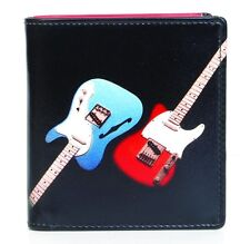 Genuine Leather Guitar Wallet by Golunski Retro Mens Tri-fold Coin Section