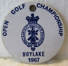 PLASTIC CONTESTANT BAG TAG 1967 OPEN CHAMPIONSHIP-HOYLAKE-TIED FOR 3RD PLACE