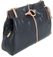 Gigi Othello  Leather Black/Honey 3 Section Shoulder Handbag Best Seller 4323